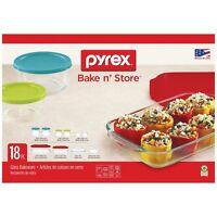 GENUINE Pyrex Bake n' Store 18 Pc. Break Resistant Storage Set 1122869 - NEW!