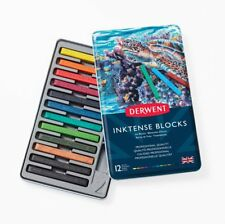 Derwent Inktense Blocks 12 Tin Set of Professional Water-Soluble Colour Sticks