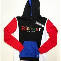 Rich Star Forever MulColor Hoody Mens S Large Sample Nice New Rare 100% Cotton