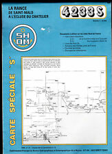 Carte SHOM - La Rance de Saint-Malo à l'écluse du Chatelier
