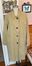 JIL SANDER + Womens Trench Coat Jacket Sz 36 US 6 khaki