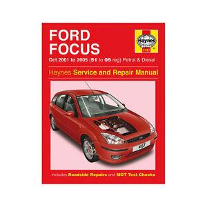 Ford Focus Haynes Manual 2001-05  1.4 1.6 1.8 2.0 Petrol 1.8 TDDI Ci Workshop