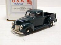 USA Models Motor City 1/43 1940 Ford Pickup Truck Handmade White Metal Model