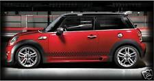 custom MINI COOPER checkered decals graphics ALL COLORS