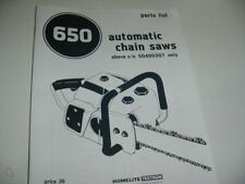 HOMELITE 650 CHAINSAW PARTS LIST MANUAL -------------------- MAN113