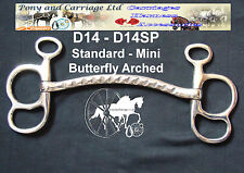 Carriage Driving Butterfly Arched Horse Bit Style D14 Mini - Large