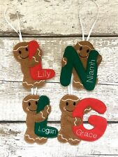 Gingerbread Initial Personalised Decoration