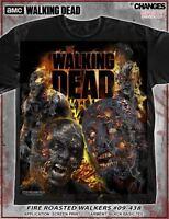 THE WALKING DEAD AMC FIRE ROASTED WALKERS ZOMBIES BITERS TWD T TEE SHIRT S-3XL