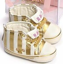 JUICY COUTURE GIRLS STRIPED HI TOP SHOES SIZE 2 NWT $58