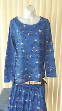NWT Women's Target Style 2 Piece Holiday Pajama Set Color Blue Lights Size Small