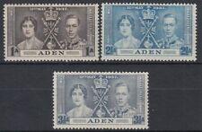 1937 Aden */MLH Mi.13/15 Krönung Coronation König King Georg Queen [sv0393]