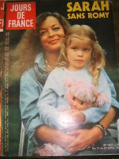 Jours de France N° 1437 1982 Romy Schneider Jean Gabin Alessandro Pertini