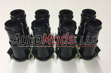 "Set of 8 1"" Fuel Injector Top Hat Extender Black 11mm 11 honda dsm import"