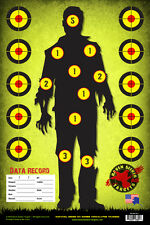 ZOMBIE SNIPER RANGE TRAINING PAPER TARGETS: SURVIVAL SERIES 101: 15 PACK - HOT!