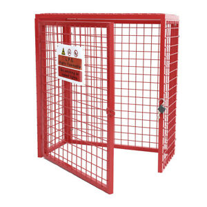 5 Size Galvanised Steel Gas Bottle Collapsible Cylinder Storage Mesh Cage & Lock