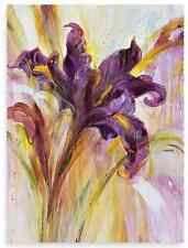 Violet Flower Canvas Wall Art, Large Wood Frame Home Room Nature Decor New Print