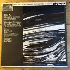 ASD 572 Berg Violin Concerto, Chamber Concerto / Christian Ferras / Pretre W/G