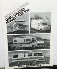 1983 Gmc 6.2 Diesel Chassis Models For Rvs Dealer Brochure Camper Motor Home