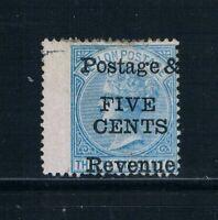 Ceylon - 1885 - 5¢ Surcharge Postage/Revenue on 36¢ QV - SC 97 [SG 156] MINT B6