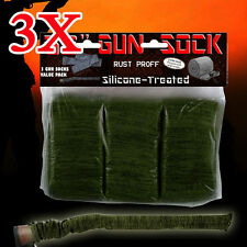 "3X Gun Sock Cover Silicone Treated 52"" Hunting Rifle Shotgun Protection Bag Case"