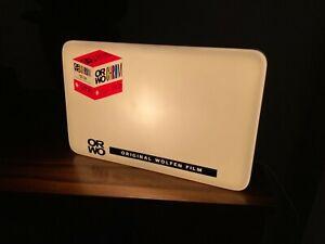 ORWO film CHROME UT21 vintage STORE DISPLAY light SIGN