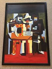 Vintage oil on canvas Painting Art Abstract Cubism Modern Expressionism 39 x 27