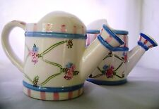 Potpourri Cream Sugar Flower Watering Can Shape Ceramic