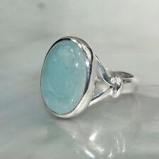 Aquamarin Ring, 925er Silber, Edelsteinring (20415), Edelsteinschmuck