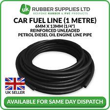 """6 mm 1//4/"""" ID Alésage Caoutchouc Essence Diesel Fuel Oil Pipe Tuyau 5 mètres rouleaux"""