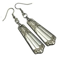 Spoon Earrings 1933 Wallace Deerfield Lenox Vintage Antique Silverplate Jewelry