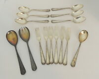 BSF 90 Flatware Lot of 15 pieces Forks Spoons Serving Spoons