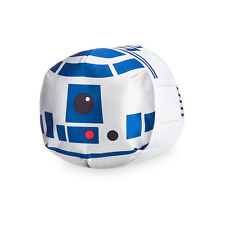 "Disney Store Star Wars R2-D2 Robot Tsum Tsum Pillow Plush 10 1/2"" L"
