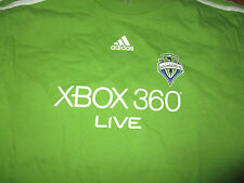 SEATTLE SOUNDERS Green Jersey T Shirt Small Adidas MLS Soccer