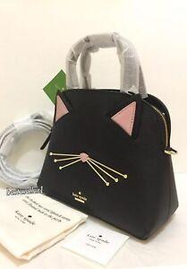 New Kate Spade Cat Meow Lottie Small Satchel Crossby Purse Bag Handbag PXRU9448