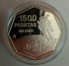 Royal Mint 925 Silver Proof 1500 Pesetas Octagonal Millennium Masterpiece Coin