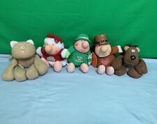 Lot Ziggy Jolly Holidays Hallmark Rodney Reindeer And Callie The Cat Plush