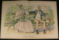 Skeptical Uncle Sam Wilson Bill Income Tax 1894 antique color lithograph print