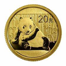 1 - 1/20 oz China 999 Fine Gold Panda 2015 Sealed in Mint Plastic GEM BU Coin