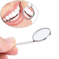 1PC Dental Mirror Dentist Stainless Steel Handle Tool for Teeth Cleaning _S`