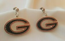 NEW!  University of Georgia Crystal Dangle Earrings