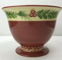 Southern Living Gail Pittman Christmas Memories Footed Bowl Centerpiece Pottery