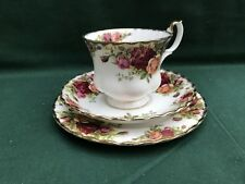 Royal Albert Old Country Roses Bone China Trio Cup Saucer Tea Plate 1st Quality
