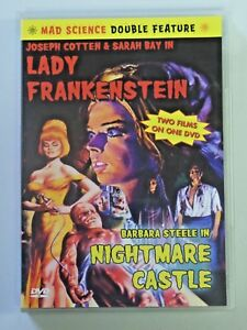 Mad Science Double Feature DVD LADY FRANKENSTEIN / NIGHTMARE CASTLE 2002