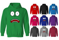 Mens Shocked Monster Funny Face Pullover Hoodie NEW XS-XXL
