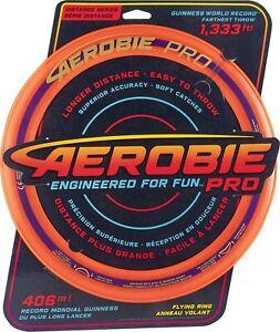 "Aerobie Pro Ring Flying Disc Outdoor Frisbee - 13"" / 33cm Orange"