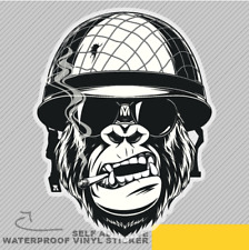 Monkey Soldier Cigarette Vinyl Sticker Decal Window Car Van Bike 2656