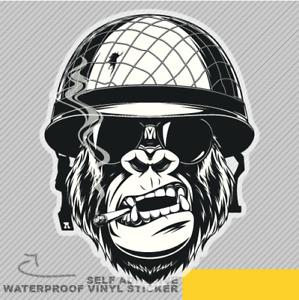 Monkey Soldier Vinyl Sticker Decal Window Car Van Bike 2656