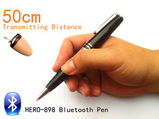 HERO 898 Bluetooth Pen With Spy Earpiece 40-60cm Long Transmitting Distance