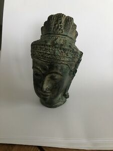 Vintage Small 11cm Cast Metal Oriental Bust - Head Ornament