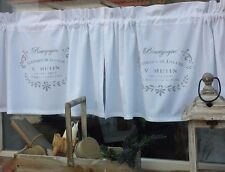 Scheibengardine Vorhang Gardine Bistro Weiß Vintage Landhaus Shabby France